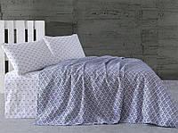 Комплект постельного белья 2,0 с простыней Пике Marie Claire GEOMETRICS BLUE