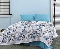 Комплект постельного белья 1,5 с простыней Пике Marie Claire HERBARIUM TURQUOISE