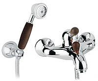 Смеситель для ванны с душевым комплектом Bianchi CLASS WOOD CRW 40 mm
