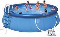 Бассейн надувной Intex Easy Set (549*122см)+фильтр, лестница, тент, подстилка, набор для чистки