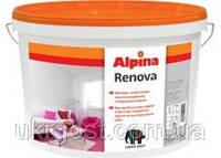 Краска белая для потолка и стен Alpina Renova 10л