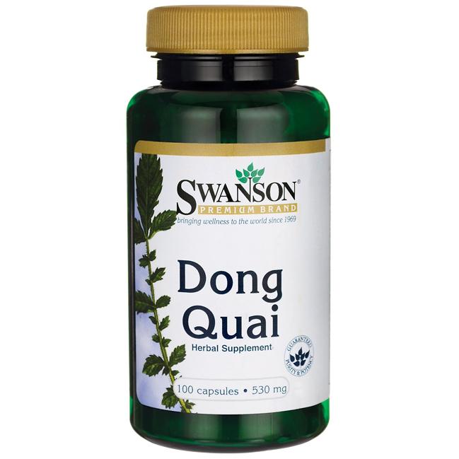 Dong Quai, Swanson Premium, 530 mg 100 Capsules / Донг Куэй / Дягиль лекарственный