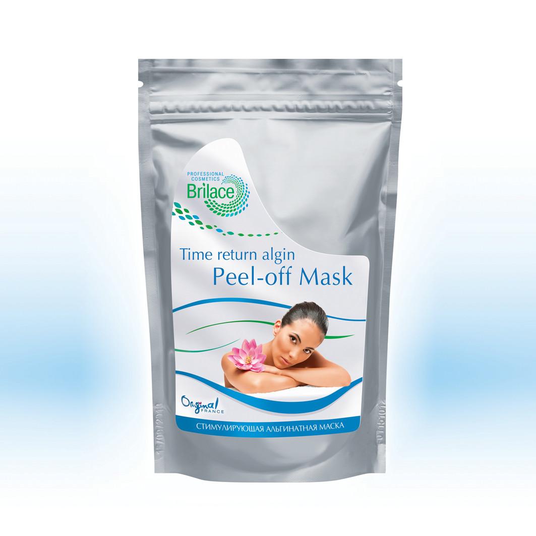 Стимулююча, омолоджуюча маска для чутливої шкіри з ознаками купероза Brilace Time return algin peel-off masк
