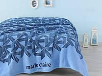 Плед 150х200 хлопок/акрил Marie Claire BOW голубой
