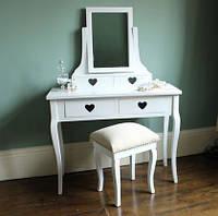 """Туалетный столик """"Сердце"""" с зеркалом, фото 1"""