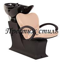 Парикмахерская мойка Леди с креслом Клио (черная керамика)