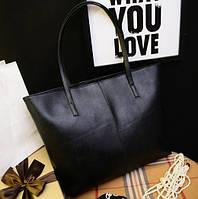 Большая женская сумка Roomy Bag черная