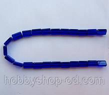 Бусина Прямоугольная цвет синий кобальт 10*15 мм