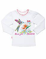 Батник для девочки:цвет -Белый,размер-68,6 мес