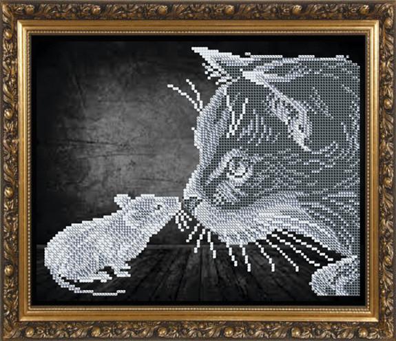 Вышивка бисером схема кошки