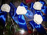 Украшение свадебных машин Роза на бантике