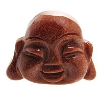 Авантюрин золотой песок, фигурка Будда