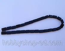 Бусина Прямоугольная цвет черный 8*12 мм