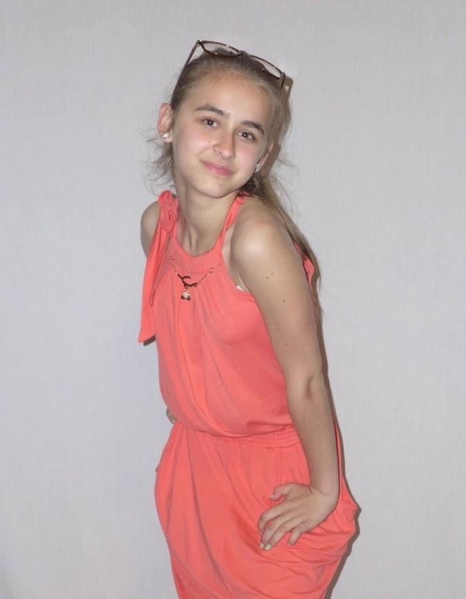 "Сарафан для девочки""SMILE "", на рост 134-156 см"