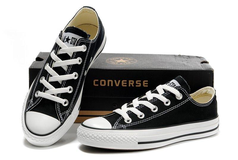 Мужские черно-белые низкие кеды Converse All Star - Интернет магазин обуви  Wikishoes в Киеве 704fbccfbab