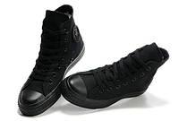 Женские черные высокие кеды Converse(Конверс) High Mono CW0906