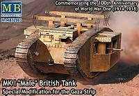 "Британский танк Mk I ""Male"" 1/72"