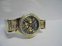 Часы наручные женские Gues(золото-черные),часы наручные Гуес, женские наручные часы, мужские часы