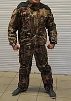 Зимний камуфляжный военный комплект бушлат+штаны