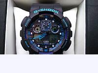 Часы Casio G-SHOCK GA-100A, спортивные часы, механические, женские часы, мужские, наручные часы Касио, кварцев