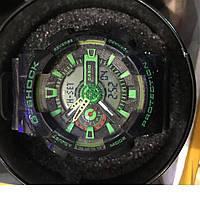 Часы Casio G-SHOCK GA-100A BLACK GREEN, женские наручные часы, мужские, наручные часы, электронные, механическ