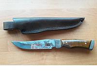 Нож охотничий Лось (Ручная работа), кожаный чехол в комплекте, тактический нож, мощный,нож охотничий