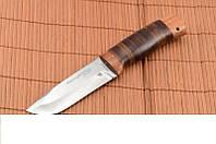 Охотничий нож, нож для охотника, кожаный чехол в комплекте, фото 1