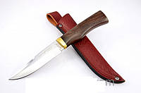 Нож охотничий Трофей с рукоятью из дерева Венге, с кожаным чехлом + эксклюзивные фото, тактический нож, рыбацк, фото 1