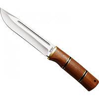 Нож охотничий и рыбацкий, рукоять красное дерево, кожаный чехол в комплект, тактический нож, рыбацкий нож