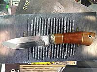 Нож охотничий Охотник сделано в Украине, ручная работа, кожаный чехол и заключение, охотничий нож, рыбацкий, фото 1