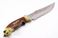 Нож охотничий Рысь, производство Украина(Спутник)+ кожаный чехол и паспорт, охотничий нож, рыбацкий , фото 1