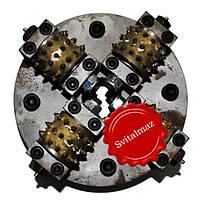 Головка бучарда Ф200 мм. (4 победитовые головки) на прижимной станок для бучардирования гранитных ступеней и п, фото 1