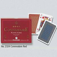 Комплект игральных карт Commodore Red 2*55 листов