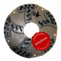 Алмазный связанный пластмассовый шлифовальный обдир Ф250 мм. №0 (сегменты с пил 1200 мм.) для станков по камню, фото 1