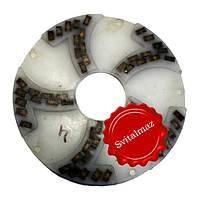 Алмазный двухрядный шлифовальный инструмент по камню Ф250 мм. №4 из пластмассы на прижимные станки по камню., фото 1