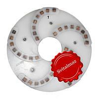 Пластмассовый алмазный однорядный шлифовальный круг для камня Ф250 мм. №1 (дельфин) на прижимные станки., фото 1