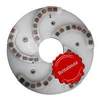 Пластмассовый алмазный однорядный шлифовальный круг для камня Ф250 мм. №2 (дельфин) на прижимные станки., фото 1
