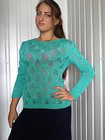 """Молодежный женский свитер """"Люрекс"""""""