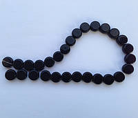 Бусина Таблетка цвет черный 12 мм