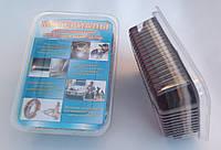 Листы  для полировки набор 6 листов 115x87;скотч-брайт P180-320, P400-1200, войлок, шерсть, фетр, син.вол.