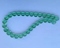 Бусина Таблетка цвет св. зеленый 12 мм