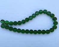 Бусина Таблетка цвет зеленый темный 12 мм