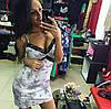 Сарафан с кружевом и цветочным принтон, фото 3