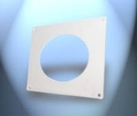 Система пластивент фланец настенный с клапаном 100