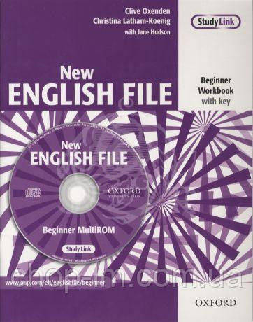 New English File Beginner Workbook with key and MultiROM Pack (тетрадь с ответами и диском)