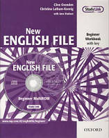 New English File Beginner Workbook with key and MultiROM Pack (тетрадь с ответами и диском)