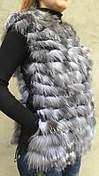Жилет женский меховой  из чернобурки. , фото 1
