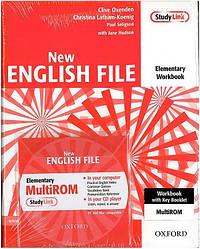 New English File Elementary Workbook with key and MultiROM Pack (тетрадь с ответами и диском)
