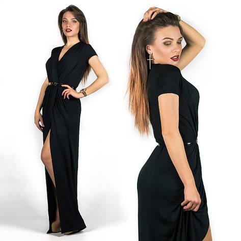 Черное платье 15536, фото 2