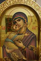 Золочение сусальным золотом икон, рам и резьбы